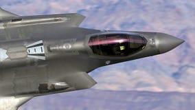 U S Luchtmacht F-35 Joint Strike Fighter (Bliksem II) het straal vliegen stock foto's