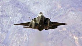U S Luchtmacht F-35 Joint Strike Fighter (Bliksem II) het straal vliegen stock afbeeldingen