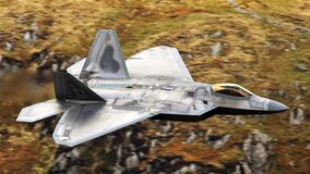 U S Luchtmacht F-35 Joint Strike Fighter (Bliksem II) het straal vliegen stock foto