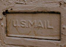 U.S. Mail. Mailbox drop royalty free stock photography