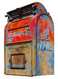U.S. Mail Box Vintage Royalty Free Stock Photography
