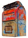 U.S. Mail Box Vintage Royalty Free Stock Photography