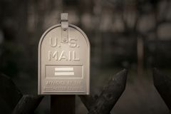 U.S. Mail. Post Box against a dark background royalty free stock photos