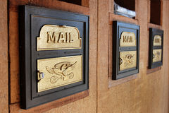 U.S. Mailboxes Stock Images