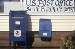 U.S. mailboxes in front of post office, South Britain, CT Royalty Free Stock Photography
