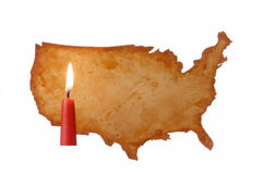 U.S.A. Map. For Message Space Stock Photos