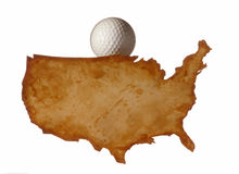 U.S.A. Mapa Foto de Stock