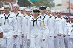 U S marche de marins Photographie stock libre de droits