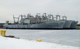 U.S. Marine Amfibische Vrachtschepen Royalty-vrije Stock Fotografie