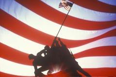 U.S. Marine Corps Memorial,. Digital collage of U.S. Marine Corps Memorial, Iwo Jima Statue, Arlington, Virginia/Washington, DC Royalty Free Stock Photos