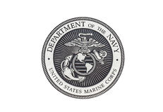 U.S. Marine Corps  official seal. On a white background Royalty Free Stock Photo
