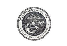 U S Marine Corps officiell skyddsremsa Royaltyfri Foto
