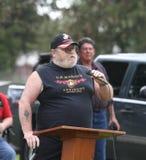 U.S. Marine speaking at Memorial Day Service Stock Photos