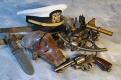 U S Marinsmed & Wesson Victory Model WWII Arkivbild