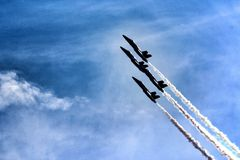 U S Marynarka wojenna Błękitni aniołowie nad Michigan Zdjęcie Royalty Free