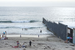 U.S. - Mexico border fence Royalty Free Stock Image