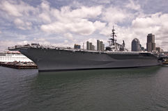 U. S. Midway. This is a picture of the U. S. S. Midway - now berthed in San Diego Bay and a museum royalty free stock photography