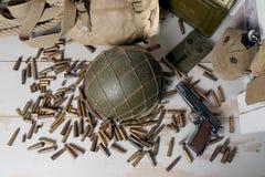 U.S. military equipment of World War II Stock Images