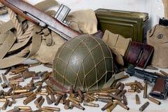 U.S. military equipment of World War II Royalty Free Stock Photography