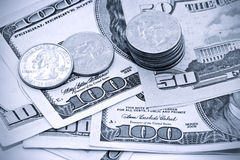 U.S. moeda Fotografia de Stock
