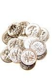 U.S. moedas de dez centavos Foto de Stock Royalty Free