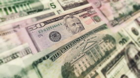 U.S. Money In Motion Animation. Actual high resolution scans of real U.S. money. HD 1080 animation stock footage