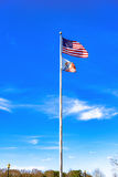 U.S. and Montgomery City Flags Stock Photo