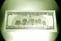 U.S. munt honderd dollars royalty-vrije stock afbeelding