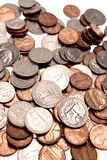 U.S. muntstukken royalty-vrije stock fotografie