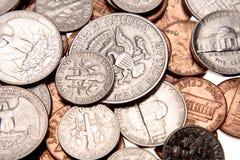 U.S. muntstukken stock afbeeldingen