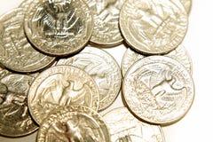 U.S. muntstukken royalty-vrije stock foto