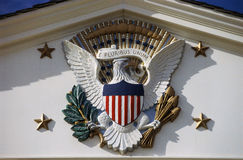 U.S. National Emblem and Presidential Seal at Herbert Hoover Site, West Branch, Iowa Royalty Free Stock Photography