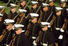 U.S. Naval Academy Midshipmen in parade Royalty Free Stock Photo