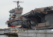 U.S. Navy Aircraft Carrier Decommissioned Stock Photography