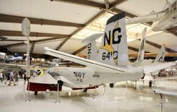 U.S. Navy Aircraft in a Museum Stock Image