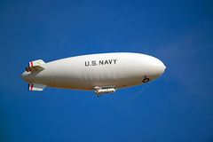 Free U.S. Navy Blimp In Flight Royalty Free Stock Image - 28116216