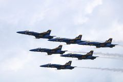 Blue Angels Cleveland Airshow 2018 royalty free stock photo