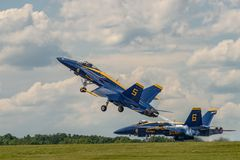 U.S.NAVY Blue Angles Stock Photography
