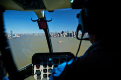 29 03 2007, U.S.A., New York: Viste di Manhattan dalla cabina di pilotaggio o Fotografia Stock