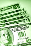 U.S. Notas de banco Imagens de Stock Royalty Free