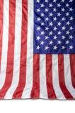 U.S.A. o bandiera americana isolata su fondo bianco Immagine Stock