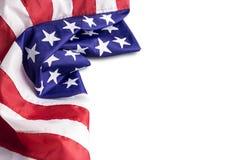 U.S.A. o bandiera americana isolata su fondo bianco Immagine Stock Libera da Diritti