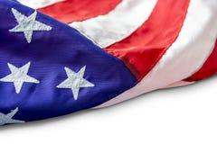 U.S.A. o bandiera americana isolata su fondo bianco Fotografie Stock