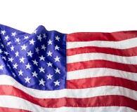 U.S.A. o bandiera americana isolata su fondo bianco Fotografie Stock Libere da Diritti