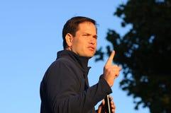 U S O senador Marco Rubio, republicano de Florida, fala em Bedford, New Hampshire o 6 de outubro de 2015 Imagens de Stock