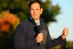 U S O senador Marco Rubio, republicano de Florida, fala em Bedford, New Hampshire o 6 de outubro de 2015 Fotografia de Stock Royalty Free
