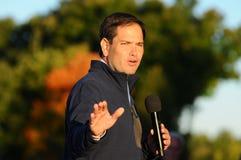 U S O senador Marco Rubio, republicano de Florida, fala em Bedford, New Hampshire o 6 de outubro de 2015 Foto de Stock Royalty Free