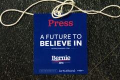 U S Obiecujący Prezydenci Bernie Sanders wiec zdjęcie royalty free
