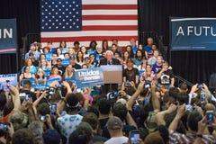 U S Obiecujący Prezydenci Bernie Sanders wiec fotografia royalty free