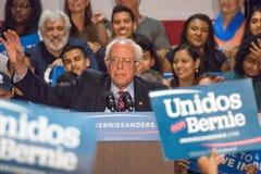 U S Obiecujący Prezydenci Bernie Sanders wiec obraz stock